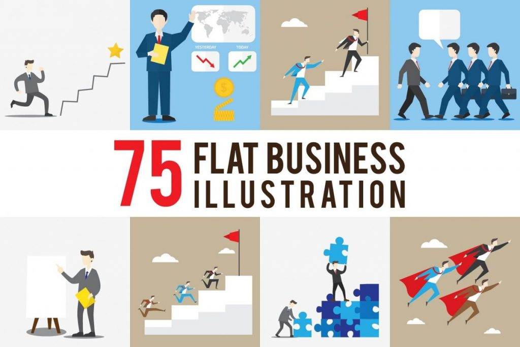 100 Business Clipart Illustration