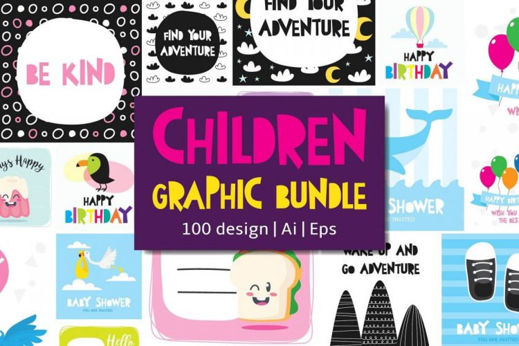 100 in 1 – Birthday Clipart for Children - cover