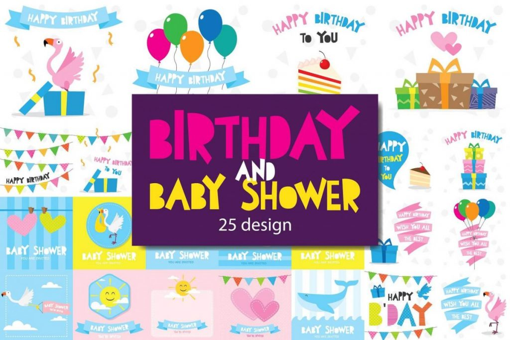 100 in 1 – Birthday Clipart for Children - preview 1