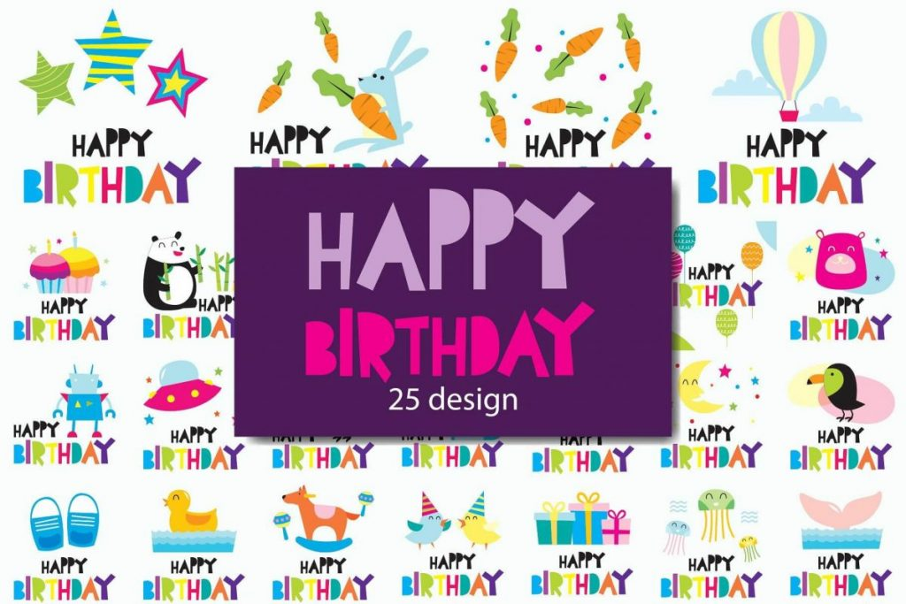 100 in 1 – Birthday Clipart for Children - preview 3