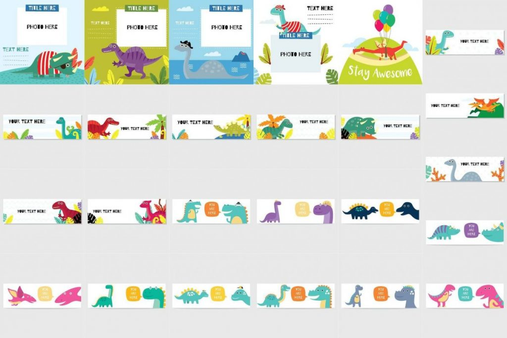 141 Dinosaur Cartoon Clipart Bundle - dinosaur clipart