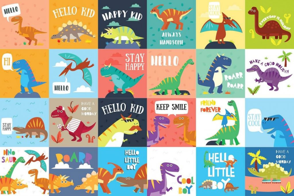 141 Dinosaur Cartoon Clipart Bundle - dinosaur picture