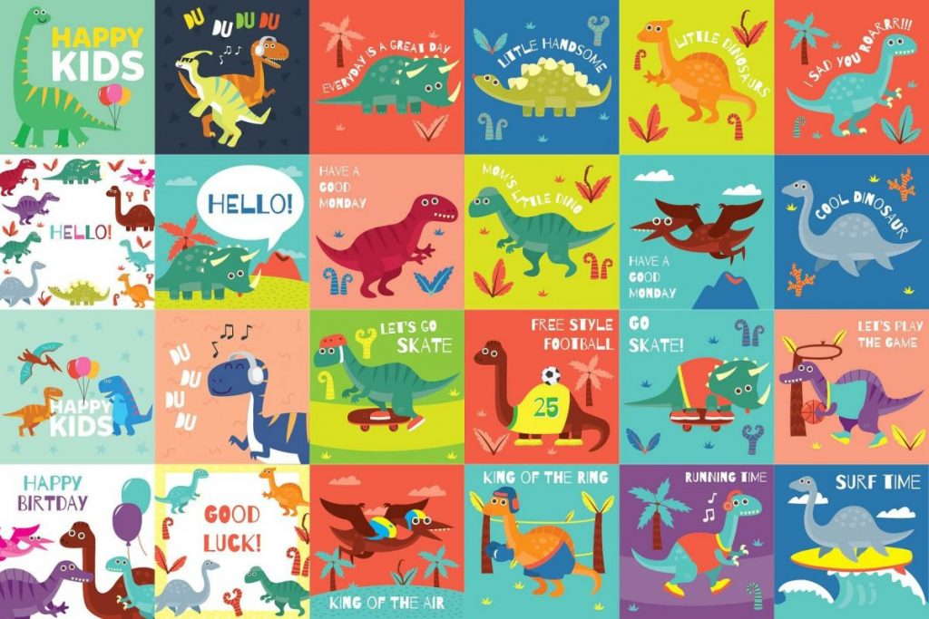 141 Dinosaur Cartoon Clipart Bundle - dinosaur picture 2