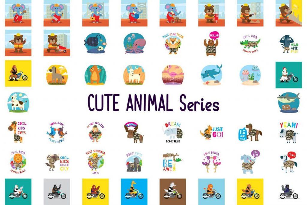 150 Cute Animals Clipart - cartoon animals 2