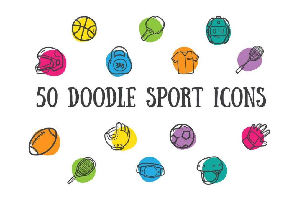 200 Hand Drawing Line Icons Pack - sport icon