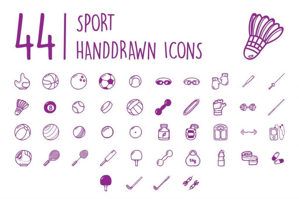200 Ultimate Hand Drawn Sport Icon Pack