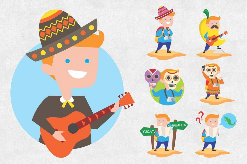 25 Mexican Clipart Bundle - mexico clipart