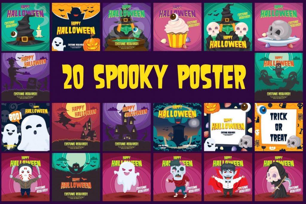 50 Halloween Clipart