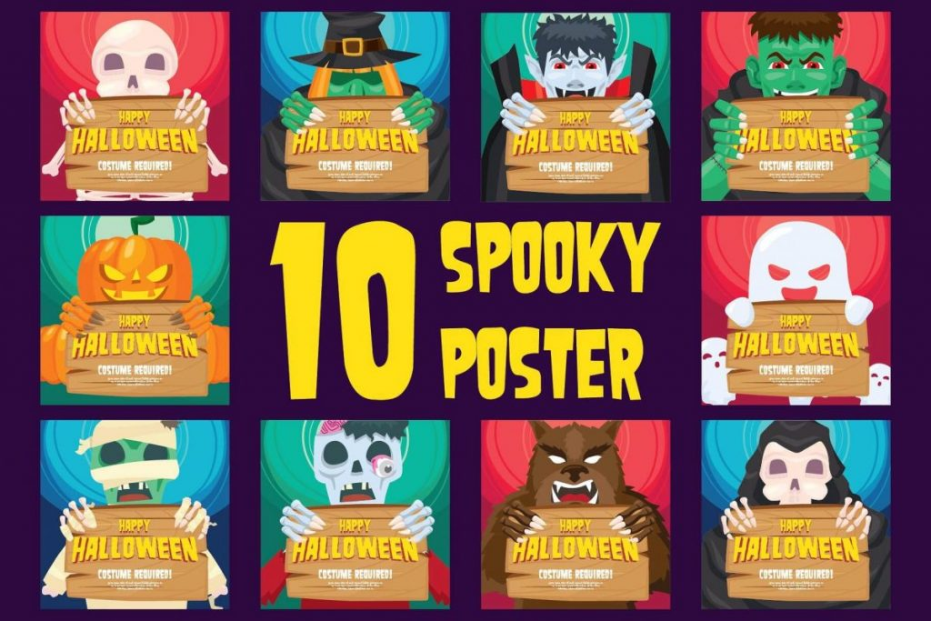 50 Halloween Clipart bundle