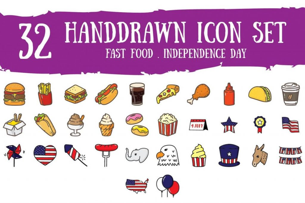 All-in-one Multipurpose Hand Drawn Icon Pack