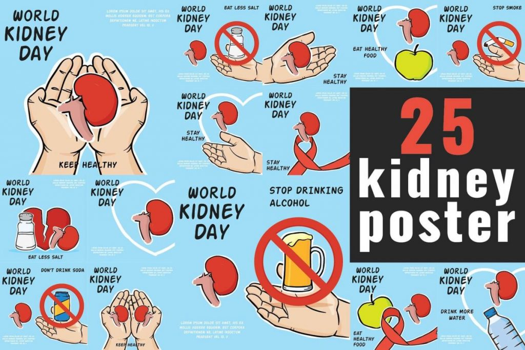 Campaign Posters Template - kidney day poster