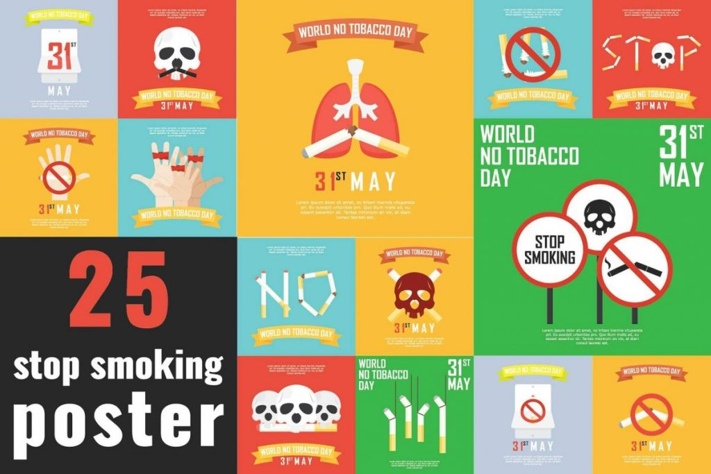 Campaign Posters Template - stop smoking poster