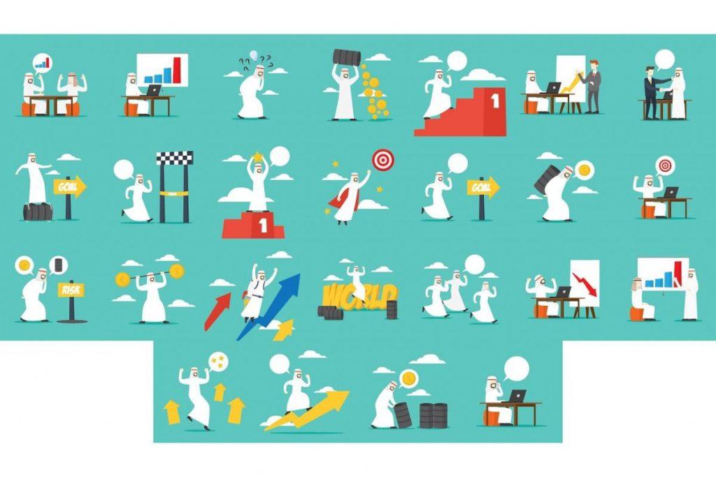 Flat Design Business clipart Illustration Set 3
