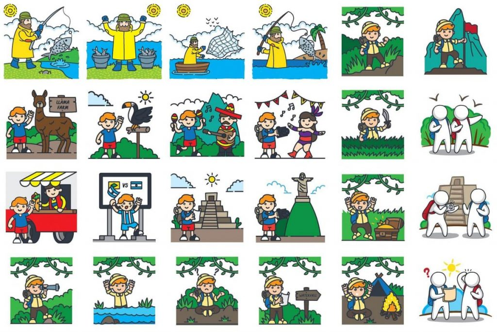 Holiday Clip Art Bundle - camping clipart