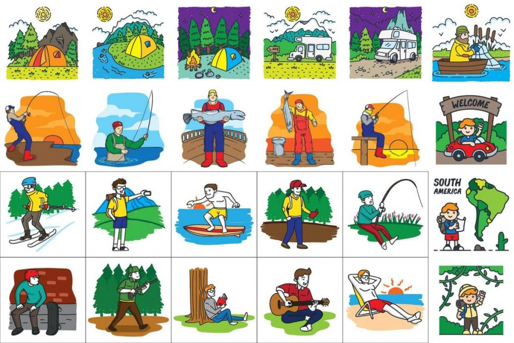 Holiday Clip Art Bundle - travel clipart