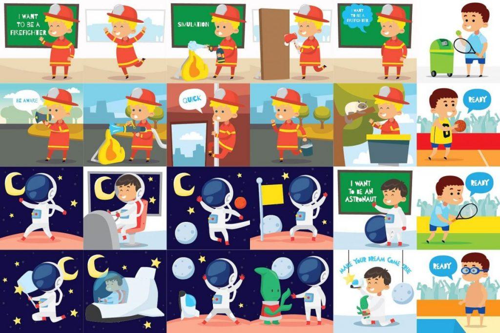 Kids Activities Clipart Bundle - kids activities