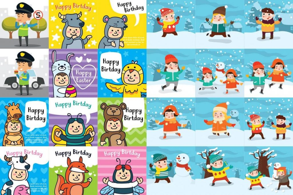 Kids Activities Clipart Bundle - kids dream