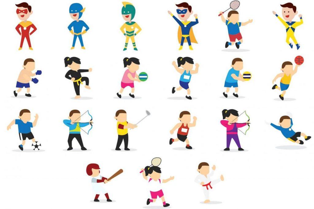 Kids Activities Clipart Bundle - kids illustrated kids 2