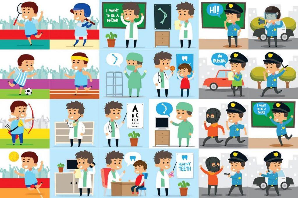 Kids Activities Clipart Bundle - sports illustrated kids