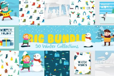 Lovely Winter Clipart Bundle - cover