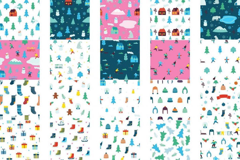 Lovely Winter Clipart Bundle - winter pattern