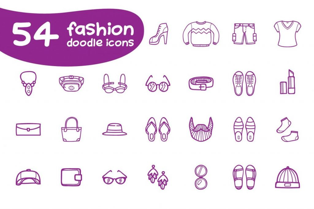 Ultra Chic Doodle Fashion Icon Pack