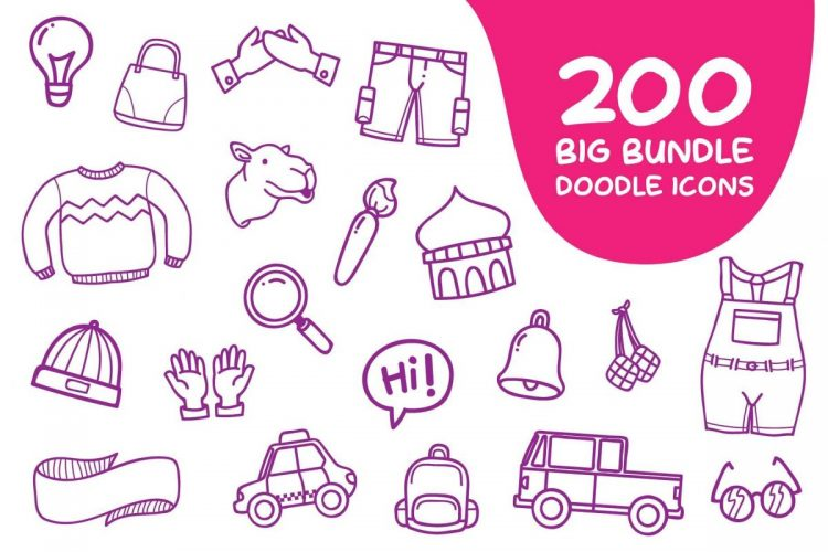 Ultra Chic Doodle Icon Pack - cover