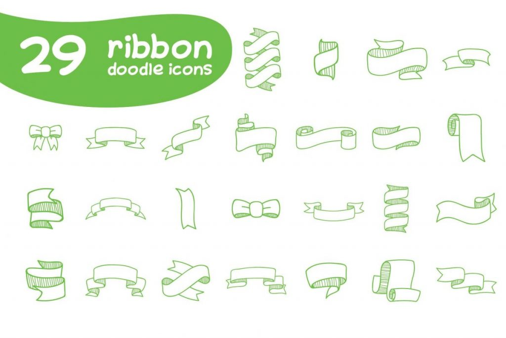 Ultra Chic Doodle Ribbon Icon Pack