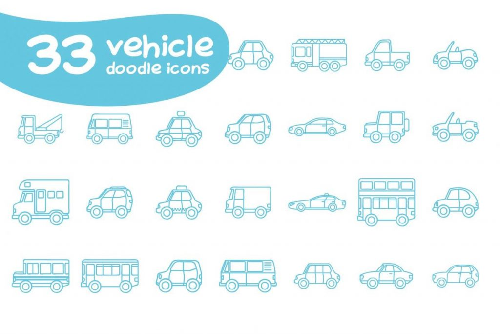 Ultra Chic Doodle car Icon Pack