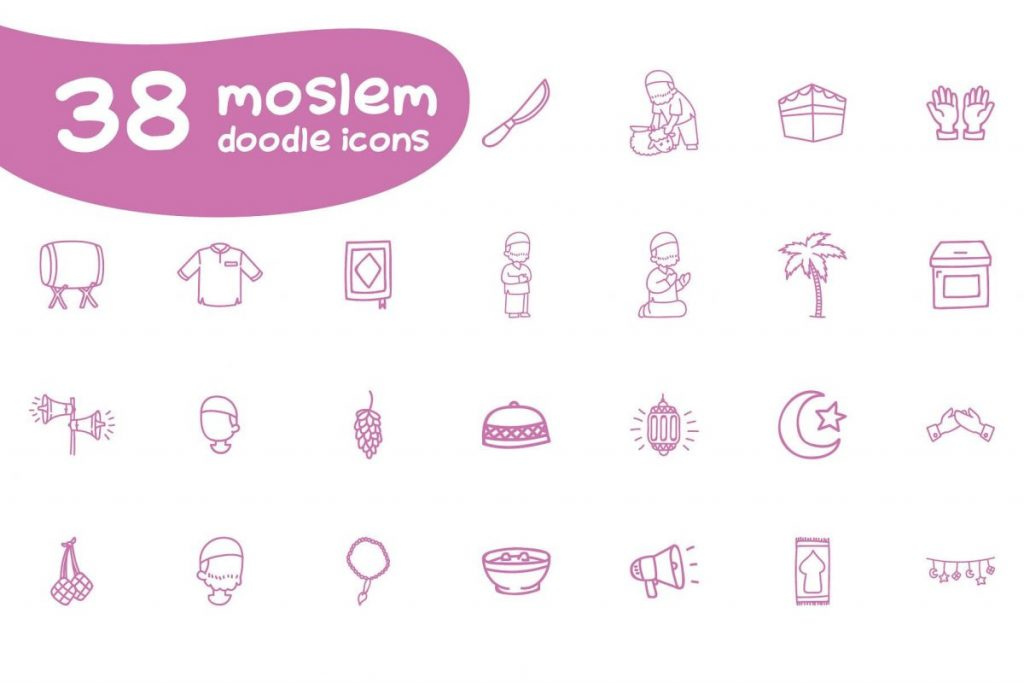 Ultra Chic Doodle islam symbol Icon Pack