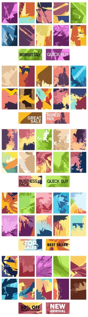 100 Colorful Abstract Background Bundle - preview 2