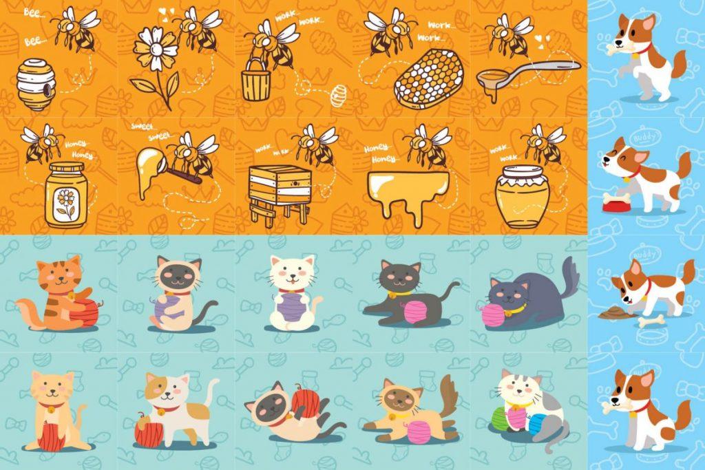 125 Animal Clipart Bundle - preview 1
