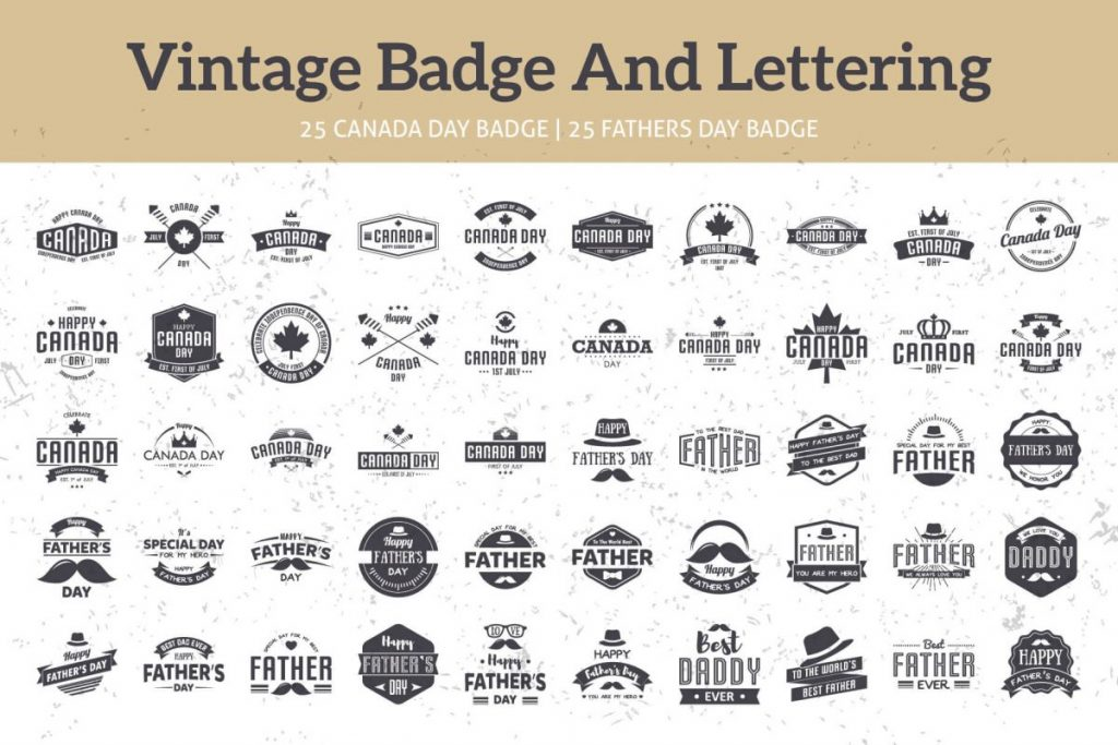 125 vintage logo design bundle - preview