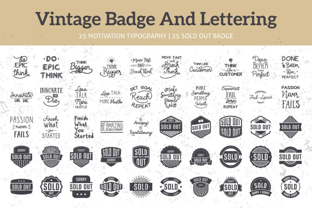 125 vintage logo design bundle - preview 2