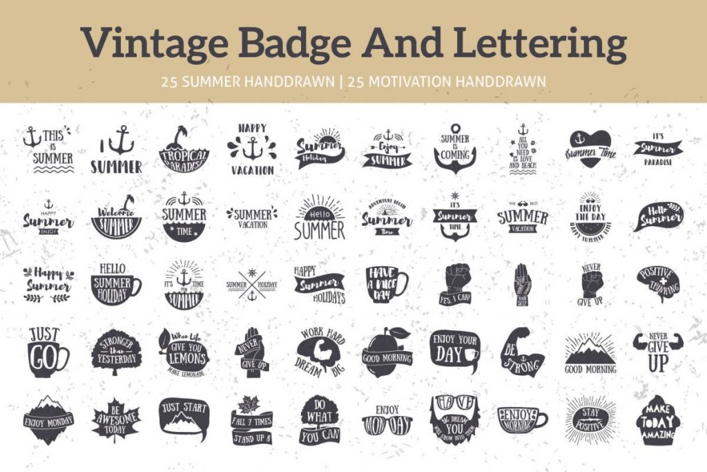 125 vintage logo design bundle - preview 3