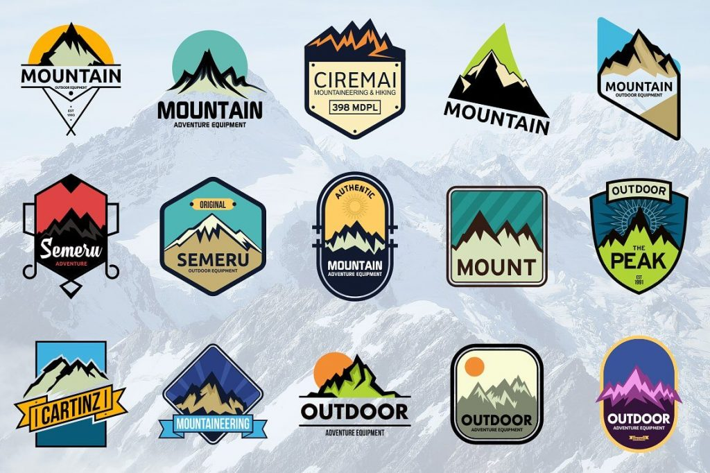 15 Vintage Mountain Logo Bundle - preview
