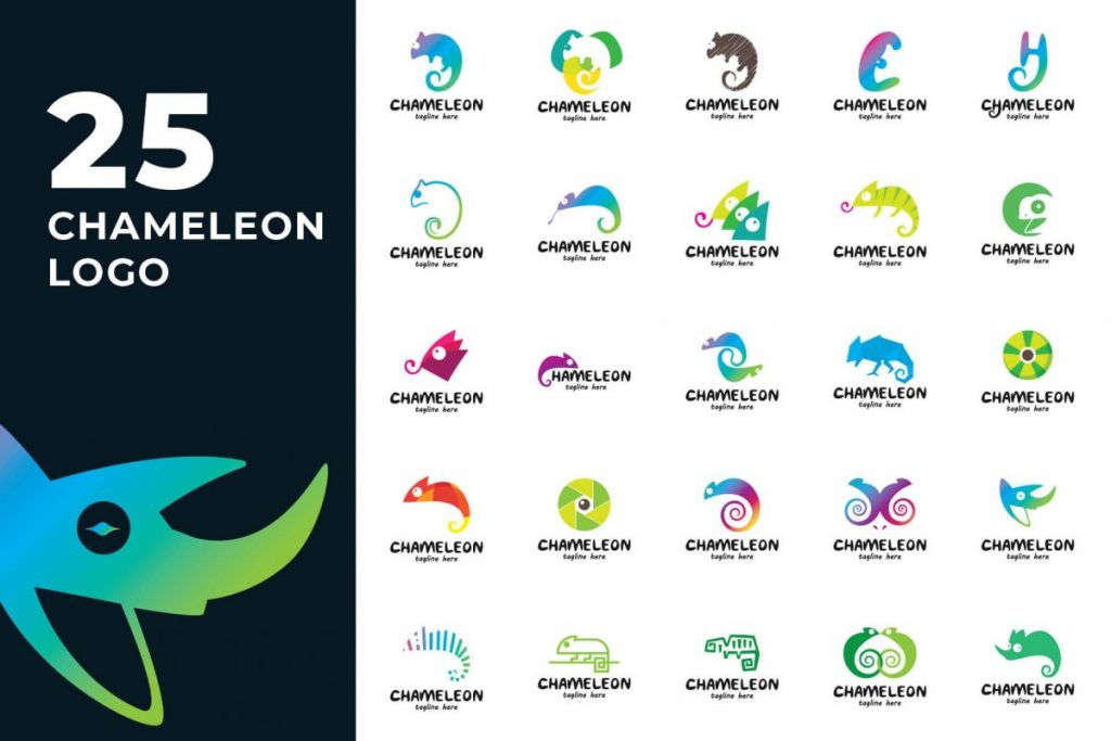 200 Creative Logo Design Collection - CHAMELEON LOGO