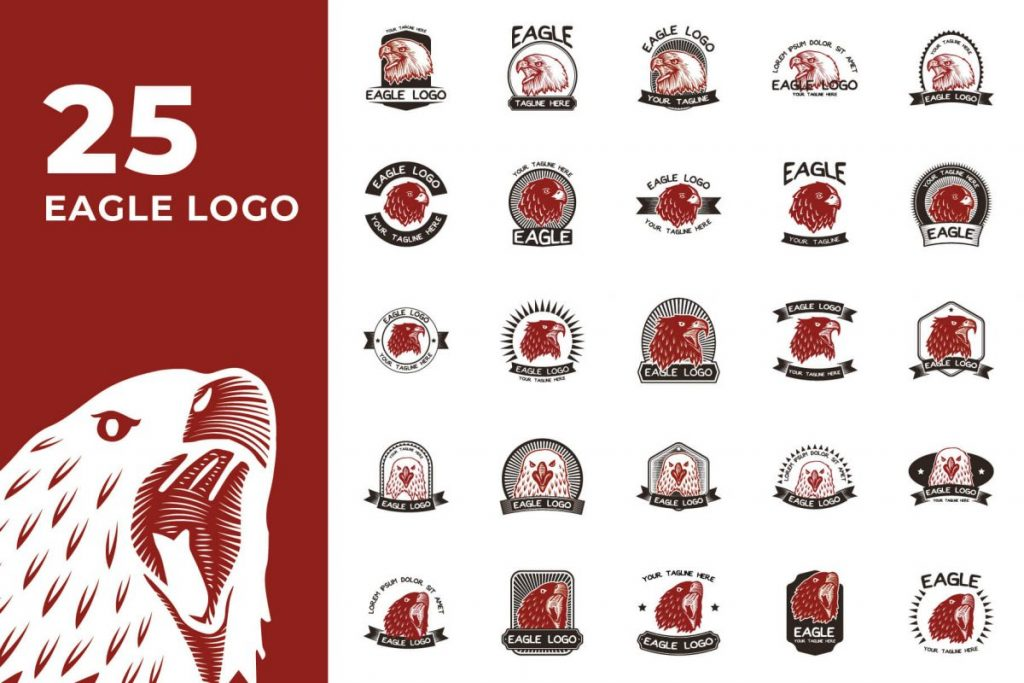 200 Creative Logo Design Collection - EAGLE LOGO
