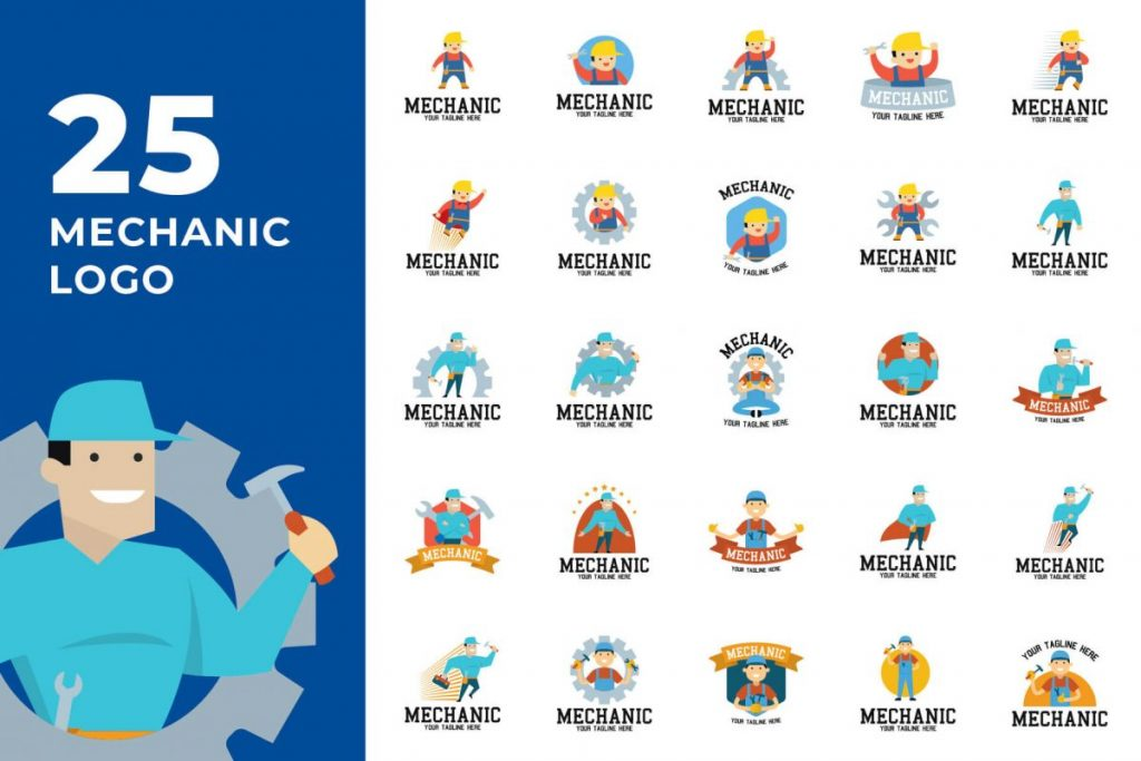 200 Creative Logo Design Collection - MECHANICAL LOGO