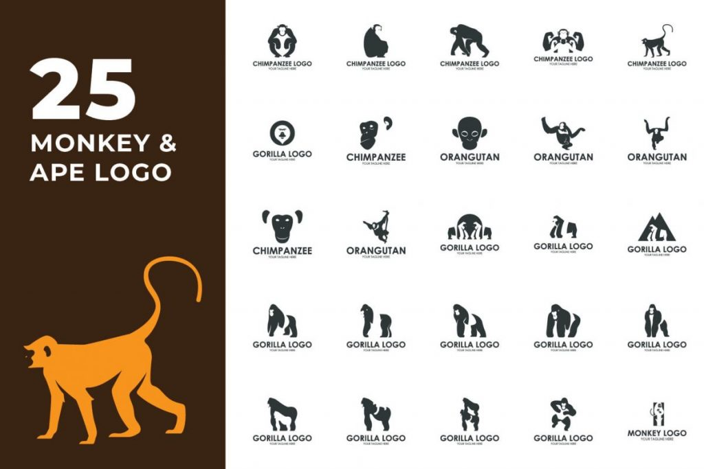 200 Creative Logo Design Collection - MONKEY LOGO
