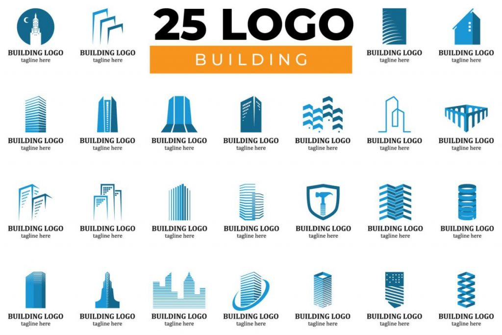 200 Dynamic & Attractive Logo Design - BUILDING LOGO BUNDLE