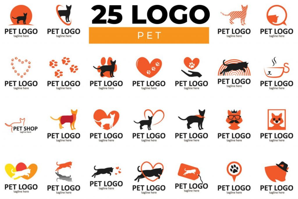 200 Dynamic & Attractive Logo Design - PET LOGO BUNDLE