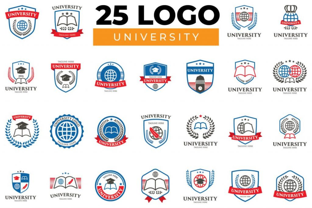 200 Dynamic & Attractive Logo Design - UNIVERSITY LOGO BUNDLE