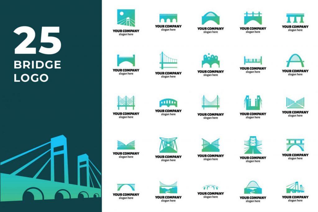 200 Modern Logo Design Collection Pack - BRIDGE LOGO