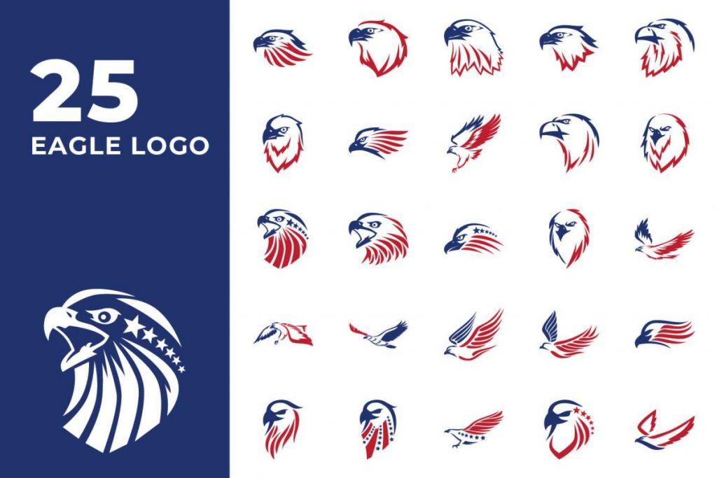 200 Modern Logo Design Collection Pack - EAGLE LOGO