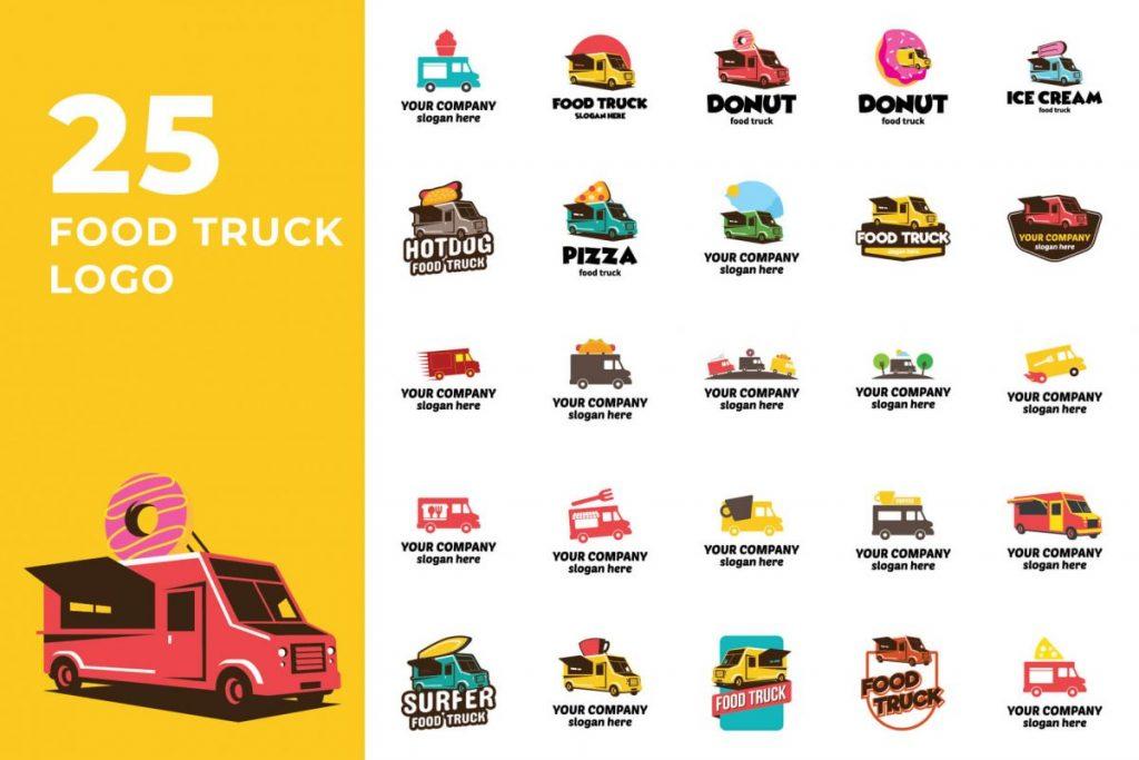 200 Modern Logo Design Collection Pack - FOOD TRUCK LOGO