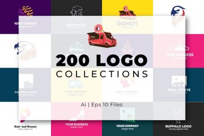 200 Modern Logo Design Collection Pack - cover