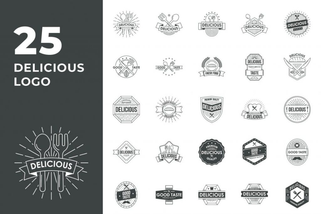 200 Multi-Purpose Logo Design Collection - DELICIOUS LOGO