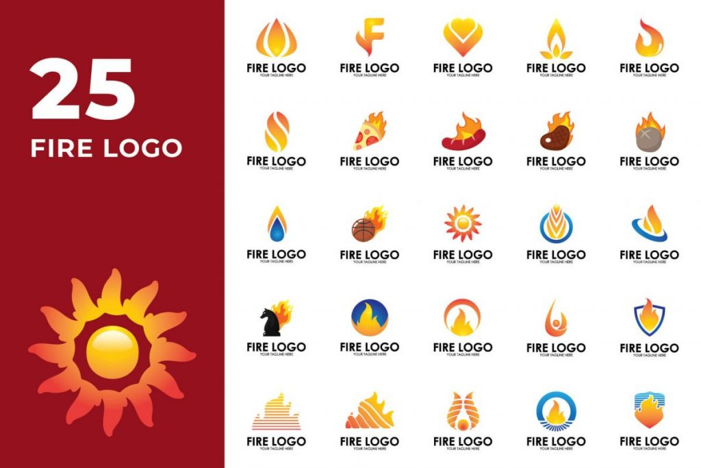 200 Multi-Purpose Logo Design Collection - FIRE LOGO