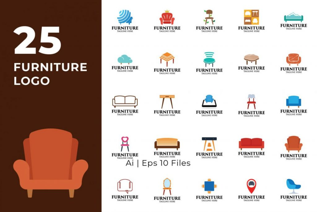 200 Multi-Purpose Logo Design Collection - FURNITURE LOGO
